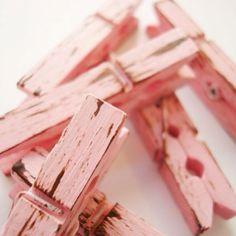 small pink clothes pins .. Etsy