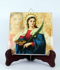 Hey, I found this really awesome Etsy listing at https://www.etsy.com/listing/275876948/saint-lucy-of-syracuse-catholic-gift