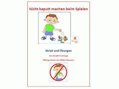 Autismus Arbeitsmaterial: Skript für Spielverhalten: nicht kaputt machen