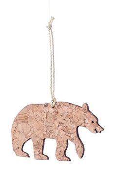 Sage & Co Animal Cork Ornaments at Nordstroms