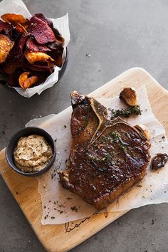 The perfect T-bone steak with an easy cheat's ''béarnaise'' If you're looking for a way to master the T-bone steak, this is it. You'll be wowing families with an effortlessly easy cheat's béarnaise on the side. Steak Recipes Pan, Grilled Steak Recipes, Grilling Recipes, Beef Recipes, Cooking Recipes, Cooking T Bone Steak, How To Grill Steak, Beef Steak, T Bone Steak Recipe Oven
