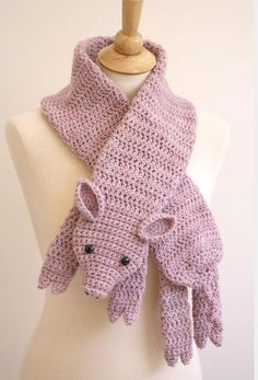 Wonderful DIY Cute Crochet Animal Scarves | WonderfulDIY.com
