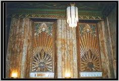 Deco design elevators, Pantages Theater, Hollywood