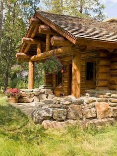 75 Best Log Cabin Homes Plans Design Ideas. Search for your dream log home floor plan with hundreds of free house plans right at your fingertips. Looking for a small log cabin floor plan? Small Log Homes, Small Log Cabin, Little Cabin, Log Cabin Floor Plans, Log Cabin Kits, Cabin Plans, Log Cabin Living, Log Cabin Homes, Log Cabins