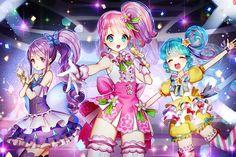 「△」/「GAMBE」のイラスト [pixiv] #プリパラ #トライアングル #真中のん #紫京院ひびき #北条そふぃ #東堂シオン Anime Chibi, Anime Art, Character Group, Cute Candy, Girl Couple, Anime Dress, My Idol, Kawaii, Fan Art
