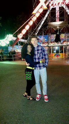 Beautiful interracial couple at  a carnival #love #wmbw #bwwm