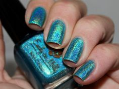 Nail polish - Cool, calm & collected light blue linear holographic via Etsy