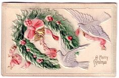 Christmas Animals Vintage Cards for Xmas and Holidays,  Vintage Animals -  Animals - Vintages Cards -  animal, animals, vintage, xmas, christmas, holidays, free, clipart,