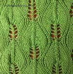 Knitting Leaf Stitches Patterns for free
