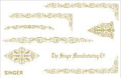 Custom Singer 221 Featherweight Decals for  Restorations Filigree  Design - Keeler Sales