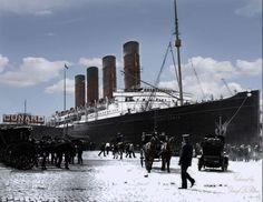 Lusitania, White Star Line, Liverpool.