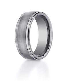 Bright Titanium Ridged Edge 6mm Brushed Wedding Ring Band Size 6.00 Classic Flat Engagement & Wedding