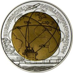 25 Euro Silber/Niob Europäische Satellitennavigation PN