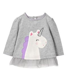 Another great find on Gray Unicorn Tutu Tee - Infant Stylish Toddler Girl, Toddler Boy Fashion, Fashion Kids, Girls Designer Clothes, Baby Girl Pajamas, Shirts For Girls, Baby Dress, Boy Outfits, T Shirt