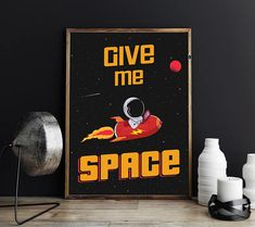 $5.75 USD Space Poster, Space Art, Space Print, Kids Wall Art, Space Wall Decor, Astronaut Print, Space Rocket Art, Planets Poster, Cosmos Poster, JPG
