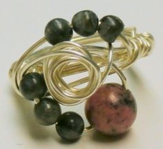 Rhodonite and Labradorite Silver Plated Swirl Ring$9.00 -Rustic Passion Jewelry & Crafts