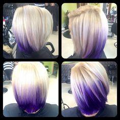 Purple and blonde by Lexie at Fringe Salon lennon mi