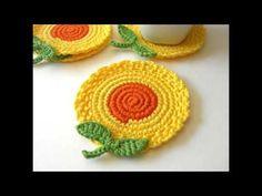 Lindos diseños de porta vasos tejidos a crochet