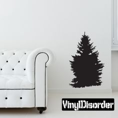 Pine Trees Wall Decal - Vinyl Decal - Car Decal - 048