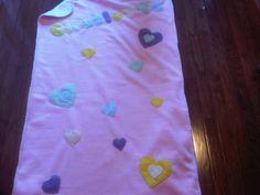Fleece Baby Blanket: Pink Cream Hearts