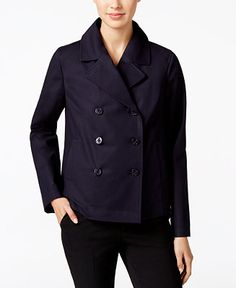 Charter Club Cropped Trench Coat, Only at Macy's - Jackets - Women - Macy's