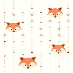 Papel de Parede Raposa Etnic - Adesivos de Parede e Papel de Parede | QCola E Craft, Baby Boy 1st Birthday, Fox Illustration, Funny Cats And Dogs, Stuffed Animal Patterns, Woodland Animals, Pattern Wallpaper, Pattern Paper, Cute Art