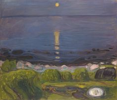 Edvard Munch: Summer Night by the Beach, 1902/03, private collection