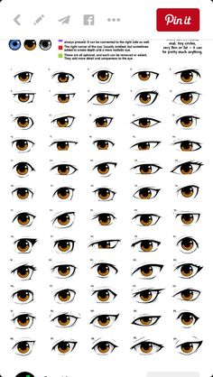 anime eye drawing reference, male/femaleYou can find Anime eyes and more on our website. Cartoon Eyes, Cartoon Drawings, Eye Drawings, Pencil Drawings, Anatomy Reference, Drawing Reference, Pose Reference, Drawing Eyes, Drawing Sketches