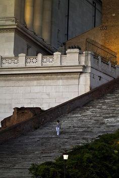 The steps of Santa Maria in Aracoeli by Enzo D.