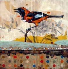 More mixed media bird art~ Frank Gonzales