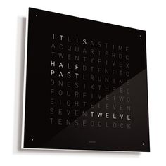 This gorgeous conceptual time-piece dispenses with numbers all together, giving you the time of day in phrases.