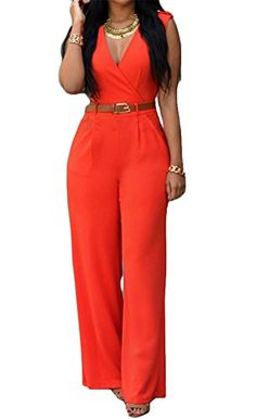 Special Offer: $10.99 amazon.com AKENA Fashion Store is a professional manufacturer and retailer, leading fashion and providing top-level quality and comfortable fashion women's wear and men's wear ✿ Size Chart (measurement in inch) ✿The V-neck Wide Leg Palazzo Pants Jumpsuit...