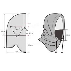 Free pattern for sewing a balaclava Sewing Hacks, Sewing Crafts, Sewing Projects, Clothing Patterns, Sewing Patterns, Dress Patterns, Techniques Couture, Sewing Techniques, Patron De Couture
