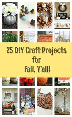 25 DIY Fall Decor & Craft Projects for Fall, Thanksgiving and Halloween.