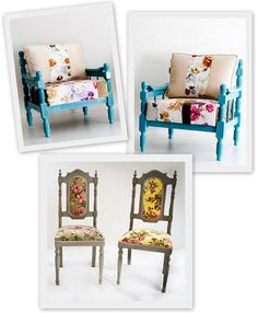 oh, those fabulous turquoise chairs... sigh.