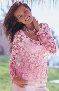 Uncinetto d'oro: Meravigliosa maglietta rosa!!!