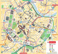 Vienna map UBahn underground subway metro stations tram stops – Vienna Tourist Map Printable