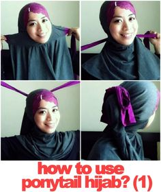 "Cool! Attached underscarves with unique ""ponytail"" style scarf. I sooo want one of these. I could dress fast and wear my scarf differently everyday...click the photo to see all the various styles."