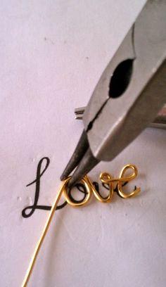 DIY - love script necklace tutorial