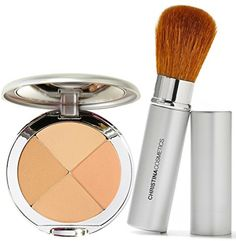 Christina Cosmetics Perfect Pigment 2 Compact and Retractable Brush Duo! * Check out this great product.