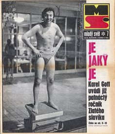 Karel Gott in swim trunks Gott Karel, Rest In Peace, Swim Trunks, Retro, Swimming, Celebrity, Passion, Album, Baseball Cards