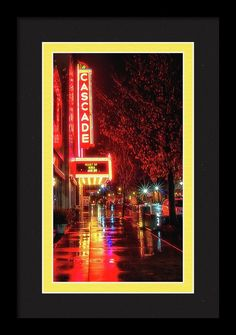 1731 Framed Print featuring the photograph Rainy Night Reflections by Marnie Patchett