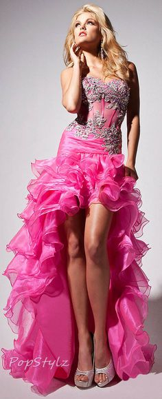 Tony Bowls Hot Pink Le Gala Spring 2013 Gown