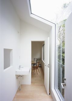 Architecture, Captivating Small House With Gardens Tetsuo Kondo Architects In Kanagawa Featuring Interior Design With Glass Window And Ceiling: Small home design with interior garden in Kanagawa Japanese Home Design, Japanese House, Japanese Modern, Interior Garden, Interior And Exterior, Interior Ideas, Exterior Design, Contemporary Architecture, Interior Architecture