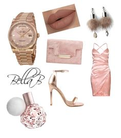"""""""All about Rose Gold.."""" by banbangotit on Polyvore featuring Liliana, Rolex, Simons, chic, prettyinpink, glam and rosegold"""