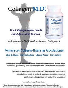 Sin gluten Colágeno tipo 2 - Fórmula con Colágeno II para las Articulaciones Suplemento Dietético Profesional #SuplementoDietéticoProfesional #SinGluten