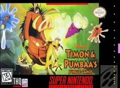 Disney's Timon & Pumbaa's Jungle Games (Super Nintendo Entertainment System, for sale online Playstation, Ps4, Game Boy, Super Nintendo Games, Timon And Pumbaa, Gaming Rules, Classic Video Games, Retro Gamer, Entertainment System