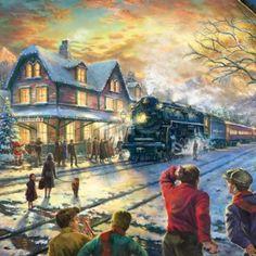 All Aboard for Christmas ~ Thomas Kinkade