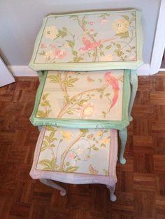 Summer inspired nest of tables