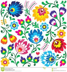 Image from http://thumbs.dreamstime.com/z/floral-polish-folk-art-pattern-square-wzory-lowickie-wycinanki-traditional-colorful-background-slavic-cutout-style-49695709.jpg.